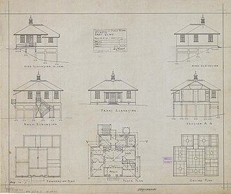 Gympie Town Hall - Architectural plans, Gympie Baby Clinic, 1925