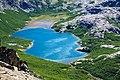 Argentina - Bariloche trekking 115 - colourful Jakob Lake and Refugio (6798012395).jpg
