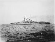 Arkansas (BB33). Port side, underway, 10-15-1912 - NARA - 513003