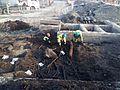 Arkeologisk utgrävning av Gamlestadstorget 20140417b.jpg