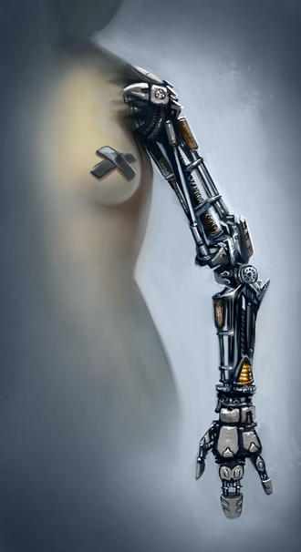 Technology in science fiction - A conceptional science fiction prosthetic/robotic arm.