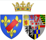 Description de l'image Arms_of_Maria_Luisa_of_Savoy_as_Princess_of_Lamballe.png.