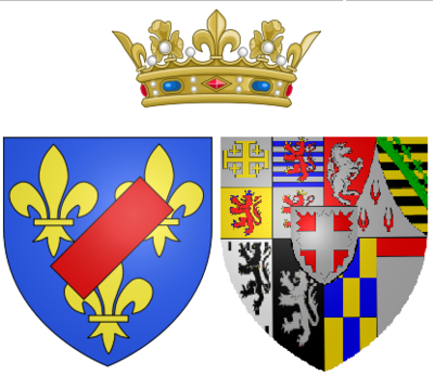 Arms of Maria Luisa of Savoy as Princess of Lamballe - Princess Marie Louise of Savoy