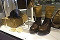 Army uniforms of Norway Post WW2 1945-1950s British Battle dress Brodie helmet Ankle boots Anklets gaiters Khaki web colour Pack etc. Tysklandsbrigaden Armed Forces Museum (Forsvarsmuseet) Oslo 2020-02- 3095.jpg