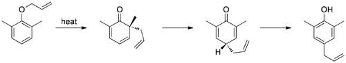 Aromatic Claisen with ortho-position substituted