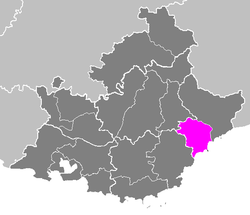 Location of Grasse in Provence-Alpes-Côte d'Azur