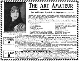 Art Amateur - Advertisement in the Jan, 1896 issue of McClure's Magazine for Art Amateur.