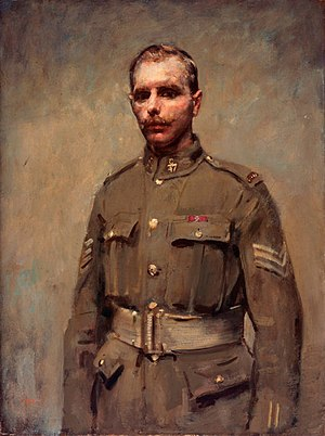 Filip Konowal - Portrait commissioned for the Beaverbrook Collection of War Art
