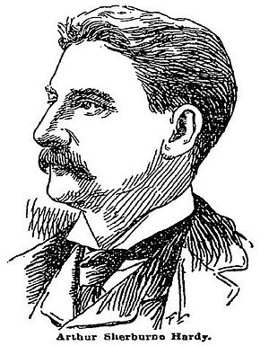 """Arthur Sherburne Hardy - Portrait from article """"Arthur Sherburne Hardy, Poet, Soldier, Novelist, Mathematician, Editor"""" in The New York Times, November 19, 1893."""