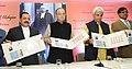 Arun Jaitley, Manoj Sinha and Jitendra Singh releasing a commemorative postage stamp on Justice Mehr Chand Mahajan.jpg