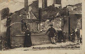 Masuria -  Destructions of World War I at Arys (Orzysz)
