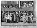 A female Quaker preaches at meeting