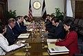 Assignment- OS 2005 1201 293) Office of the Secretary - Secretary Carlos Gutierrez Greets Latvian Prime Minister Aigars Kalvitis (40 CFD OS 2005 1201 293 794.JPG - DPLA - c452e955ec93051605820ffbdd150d40.JPG