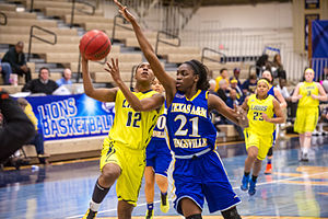 Texas A&M–Kingsville Javelinas - The Lady Javelinas in action against the Texas A&M–Commerce Lions in 2015
