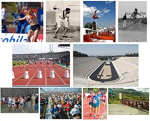 Athletics comprises a variety of running, jump...