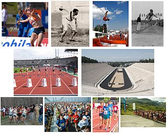 Competition - Competition in sports. A selection of images showing some of the sporting events that are classed as athletics competitions.