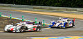 Audi and Toyota LMP1 at Le Mans 2013.jpg