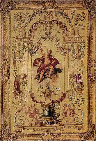 Claude Audran III - Claude Audran III, The Gods: Jupiter, tapestry, Gobelins Manufactory