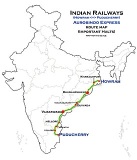 Howrah–Puducherry Express Train in India