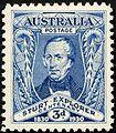 Australia 1930 stamp Charles Sturt explorer.jpg