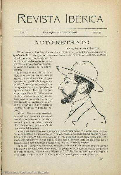 File:Auto-retrato, Miguel de Unamuno, Revista Ibérica, 30-09-1902.djvu