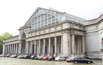 Cinquantenaire - Entrance to the Palais Mondial (South Hall), housing AutoWorld