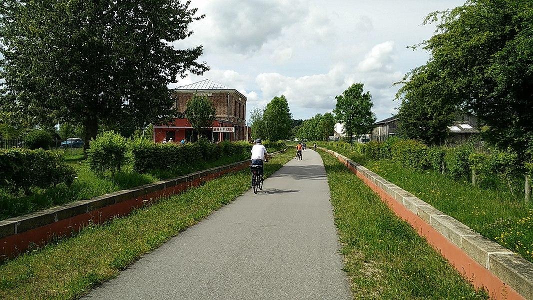 Avenue verte - Ancienne gare de Nesle - Saint Saire Commune de Nesle-Hodeng