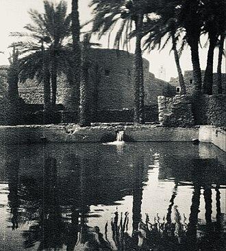 Figuig - Cistern in Figuig, January 1913
