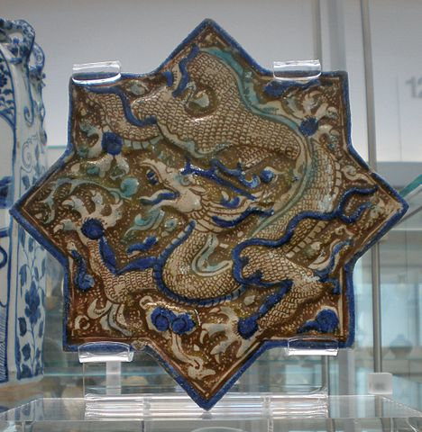 File Blw Wall Tile With Dragon Jpg Wikimedia Commons