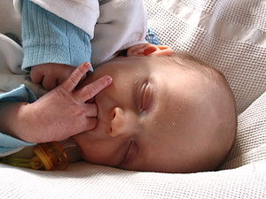 Thumb sucking - Infants may use pacifier or thumb or fingers to soothe themselves