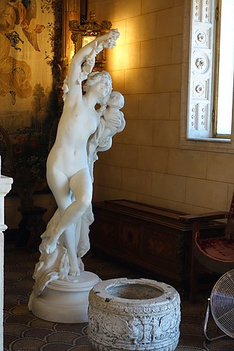 Bacchante and Infant Faun - Statue at Hearst Castle in San Simeon, California