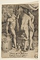 Bacchus at left giving grapes to women, from 'The Loves of the Gods' MET DP812667.jpg