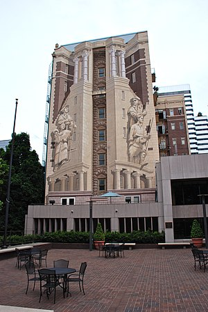 Richard Haas - One of four Haas murals painted in 1989 on the Sovereign Hotel, in Portland, Oregon (Oregon History)