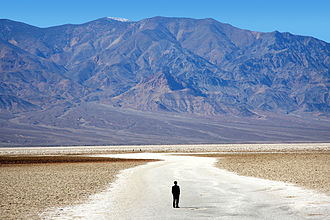 Badwater Basin - View of the Basins's salt flats