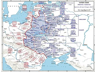 Operation Bagration - Deployments during Operation Bagration