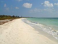 The beach at Bahia Honda in the Florida Keys.