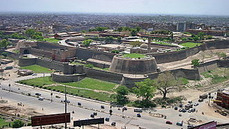 Durrani Empire - The Bala Hissar fort in Peshawar was one of the royal residences of the Durrani kings.