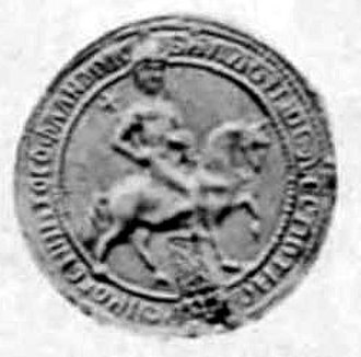 Mongol invasion of the Latin Empire - Baldwin II portrayed as a king on horseback on his seal.