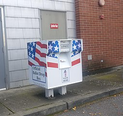 Skagit County Ballot Drop Box in Anacortes, WA
