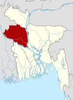 Bangladesh location map-Rajshahi Division.svg