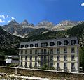 Banos de Panticosa - Ornate Hotel and Mountain Background - panoramio.jpg