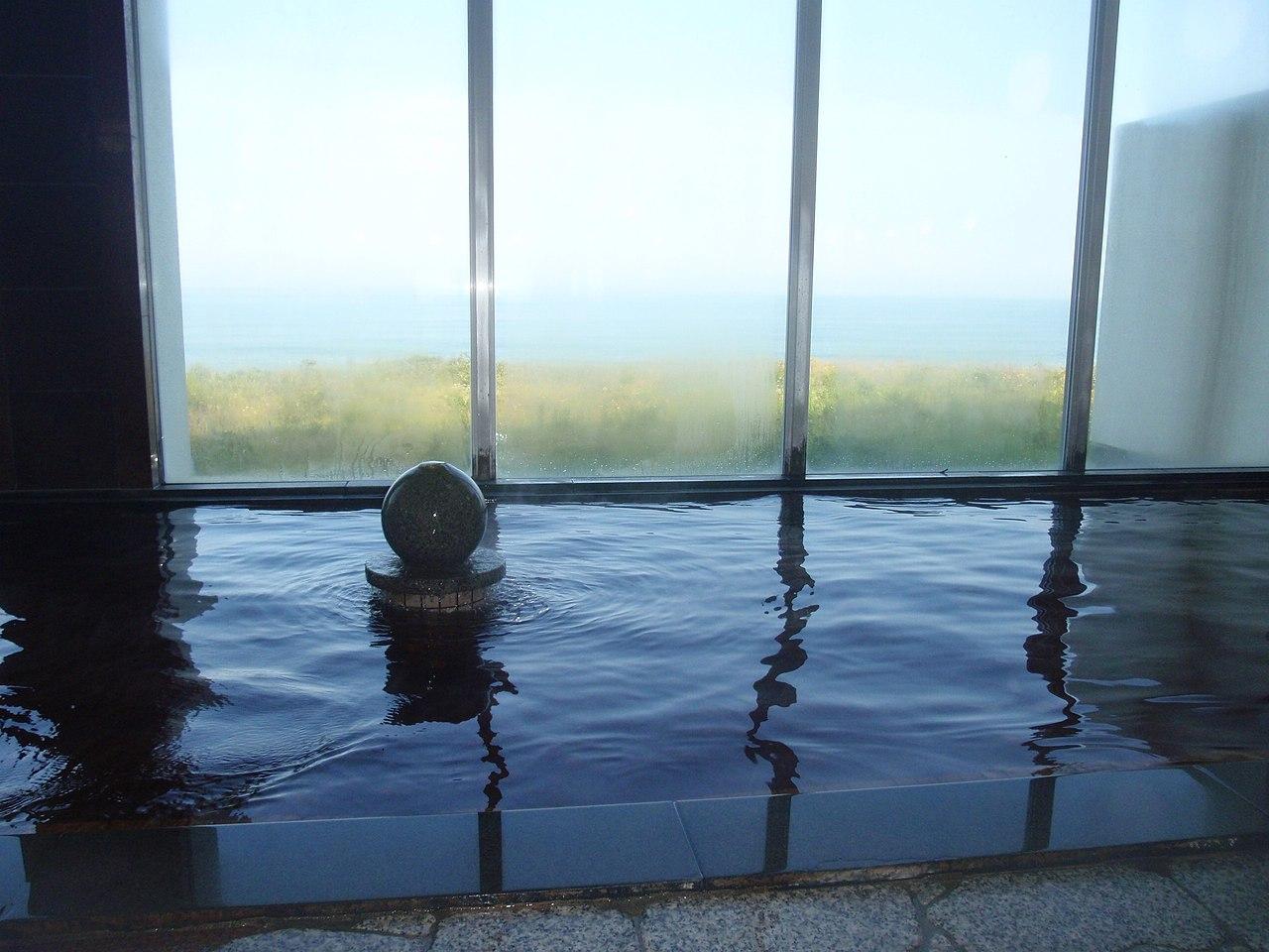 Bansei spa bath room.JPG