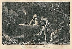 Untersberg - Karl Girardet (1813 – 1871): Frédéric Barberousse dans la grotte de l'Untersberg