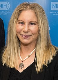 Barbra Streisand with Francis Collins and Anthony Fauci (27806589237) (cropped).jpg
