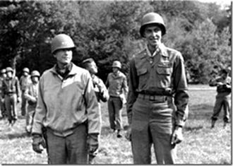 Van T. Barfoot - Lt. Van Thomas Barfoot (right) after being awarded the Medal of Honor by Lt. General Alexander Patch on 22 September 1944 in Epinal, France.