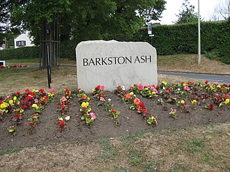 Barkston Ash - Image: Barkston Ash stone 11 July 2018