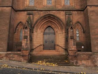 Barony Hall - Entrance to the Barony Hall from Rottenrow Street