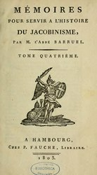 Augustin Barruel: Mémoires pour servir à l'histoire du jacobinisme