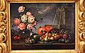 Bartolomeo ligozzi, anemoni in un vaso di vetro, frutta, ortaggi e una fontana, 1660-90 ca. 02.JPG