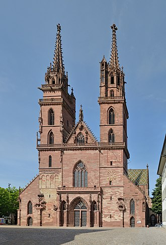 Basel - Basel Minster, built between 1019 and 1500
